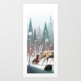 Soft winter Art Print