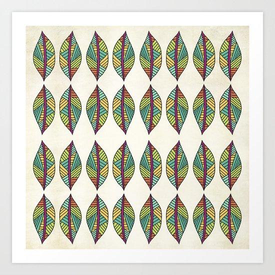 Native Leaves Art Print