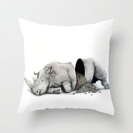 Rhino Slumber Throw Pillow