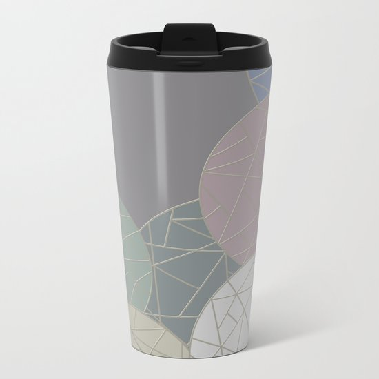 THE WORLD IS ROUND (abstract) Metal Travel Mug