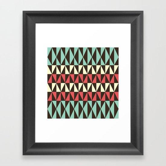 Retro pattern Framed Art Print