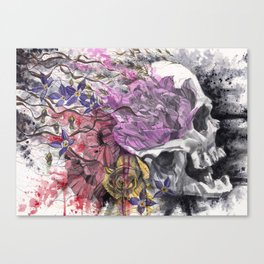 Headspace | Skull and Flowers Canvas Print