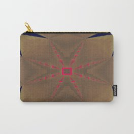 Pinkbrown(blue) Pattern 3 Carry-All Pouch