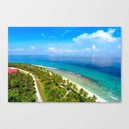 Tropical Island Sea Coast Canvas Print