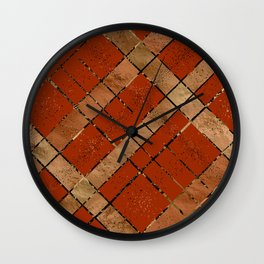 Retro pastel plaid pattern N8 Wall Clock