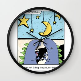 Listen Maurice: the sky is falling! Wall Clock