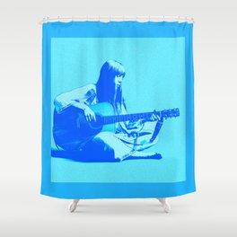Blue Songbird Joni Mitchell Shower Curtain