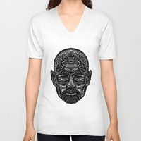 walter white V-neck T-shirts featuring Walter White by Jamie Bryan