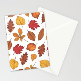 Autumn Leaves Watercolor Pattern | Fall Leaves | Autumn Foliage Design | Stationery Cards
