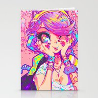 barachan Stationery Cards featuring shinsui by barachan