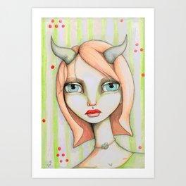 Peachy Faun Art Print