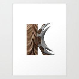 Geek letter K Art Print