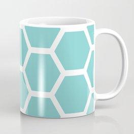 Aqua Honeycomb Coffee Mug