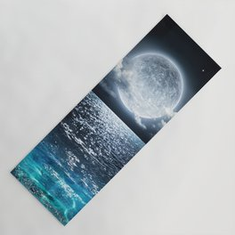 Full Moon over Ocean Yoga Mat