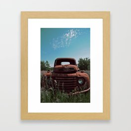 Truck on a Hill Framed Art Print