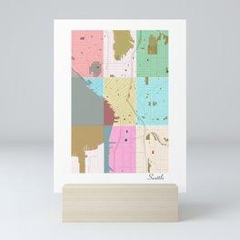 Seattle, Washington, USA, city map Mini Art Print