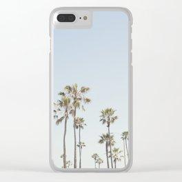 California Palm Trees II Clear iPhone Case