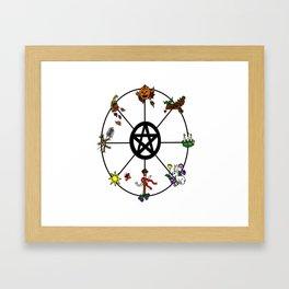 Wheel Of Seasons Framed Art Print