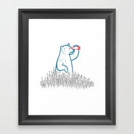 DA BEARS - SEARCHING Framed Art Print