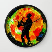 new orleans Wall Clocks featuring New Orleans  by Saundra Myles