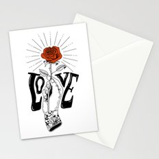 Hand with Rose Stationery Cards