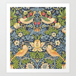 William Morris Strawberry Thief Restored Art Print