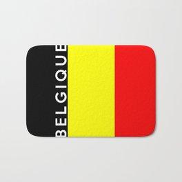 belgium country flag belgique name text Bath Mat