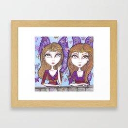 Fortune Teller faeries Framed Art Print