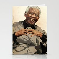 mandela Stationery Cards featuring ICON: Mandela by Diavu'