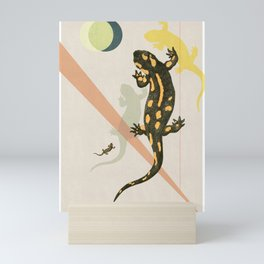 Lizard Family Mini Art Print