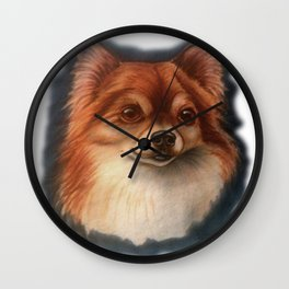Pretty Pomchi  Wall Clock