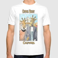 Central Valley California Mens Fitted Tee White MEDIUM