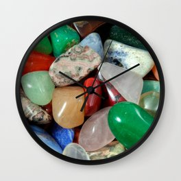 Colorful Stones Texture Wall Clock