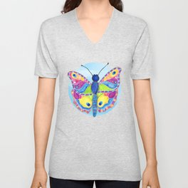 Butterfly II on a Summer Day Unisex V-Neck