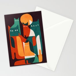 Cat Family Stationery Cards