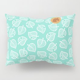 animal crossing villager nook shirt pattern white leaf Pillow Sham