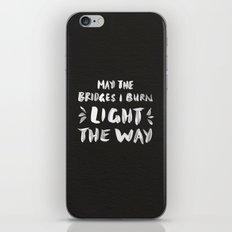 Burned Bridges – Black & White iPhone & iPod Skin