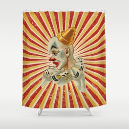 Scary vintage circus clown Shower Curtain
