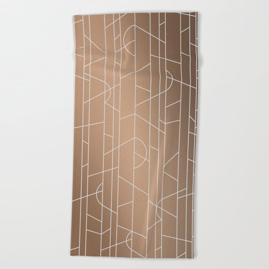 Patternbronze #3 Beach Towel