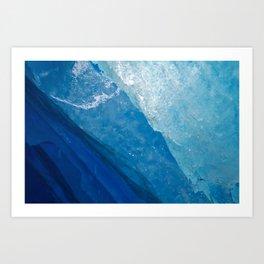 glacial ice 4 Art Print