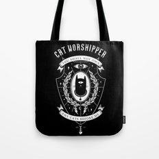 Cat Worshipper Tote Bag