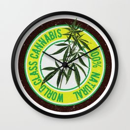 World Class Cannabis Wall Clock