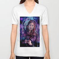 amy pond V-neck T-shirts featuring Amy Pond by Sirenphotos