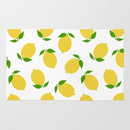 LEMON LEMONS FRUIT FOOD PATTERN Rug