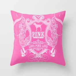 Pink VS Throw Pillow