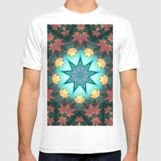 Maple Mandala White MEDIUM Mens Fitted Tee