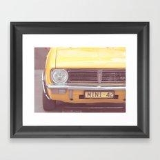 Yellow Mini Framed Art Print
