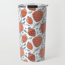 living coral strawberrys pattern Travel Mug