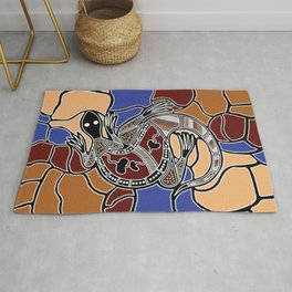 Aboriginal Art - Goanna (lizard) Dreaming Rug
