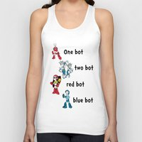 dr seuss Tank Tops featuring 'Lots of Bots' by Dr. Light (Mega Man / Dr. Seuss parody) by PeterParkerPA